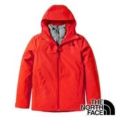 【THE NORTH FACE 美國】女 FUTURELIGHT兩件式連帽外套『橘/灰』 NF0A4NAH 休閒 保暖 防風
