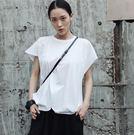新款夏季個性拼接休閒百搭短袖T恤黑白兩色/設計家分店