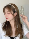 流蘇髮箍 發箍女珍珠流蘇吊墜發卡網紅2021年新款夏季高級發夾仙氣頭箍頭飾 快速出貨