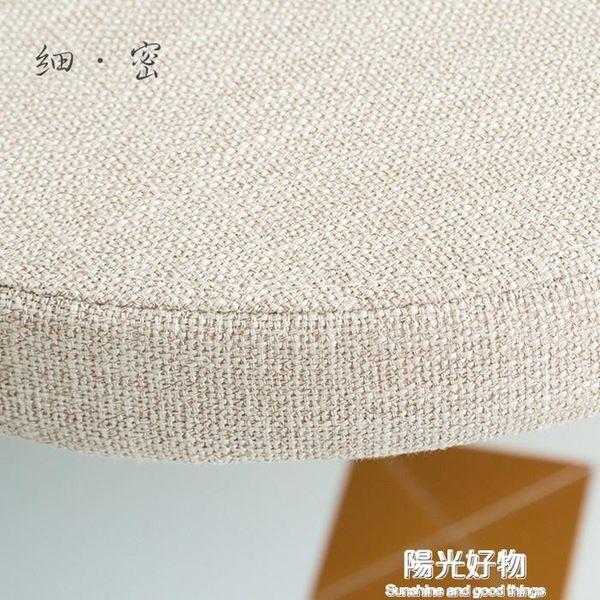 坐墊椅墊圓形加厚日式簡約純色籐椅亞麻加厚圓墊榻榻米 NMS陽光好物