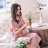 東京著衣【YOCO】浪漫女孩緞面長洋裝-S.M(170151)