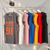 背心男卡通無袖t恤 男裝青年韓版寬鬆坎肩夏天男裝運動籃球汗衫潮
