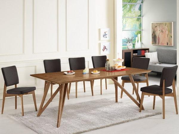 餐桌 MK-428-1 艾利克6.6尺胡桃餐桌 (不含椅子)【大眾家居舘】