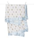 頂級 冬季首選 嬰兒被 Little Giraffe 美國 頂級攜帶毯 - 豪華彩色點點嬰兒毯(藍色款)  LXDBKTBL