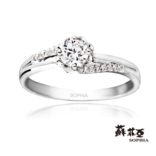 蘇菲亞SOPHIA - 幸福捧花0.30克拉F/VVS1 3EX 八心八箭鑽石戒指