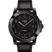 TISSOT天梭 SWISSMATIC 紳士機械錶-黑/44mm T0984073605200