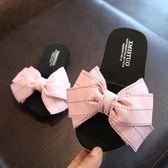 兒童拖鞋 可愛蝴蝶結防滑親子一字拖平底涼拖鞋 艾米潮品館