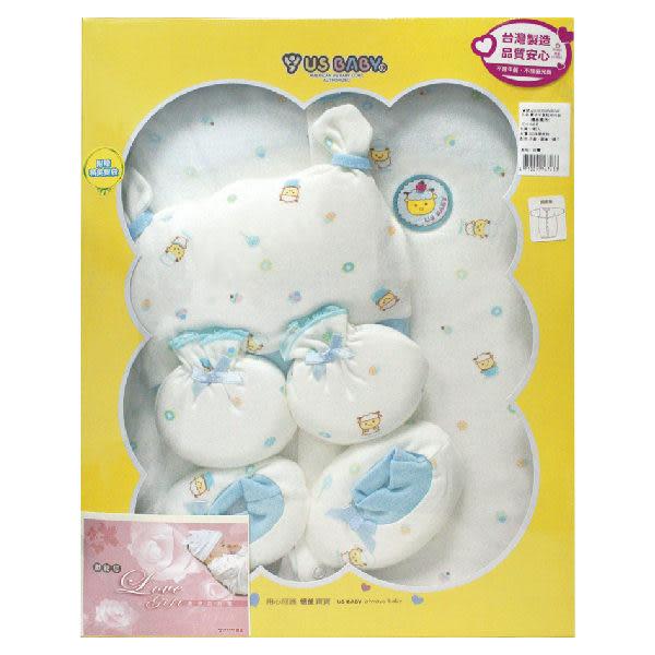 優生 喜羊羊 蛋糕圖案 長袍 禮盒 (0-6月 藍色,單盒) 兔裝彌月禮盒【杏一】