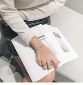 韓版銀飾S925純銀設計師款個性 粗盒子鏈情侶手鍊銀 情人節送禮AS134【米莎】