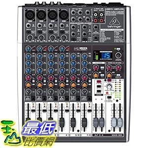 [美國直購] Behringer XENYX X1204USB Premium 12-Input 2/2-Bus Mixer 數位效果混音器
