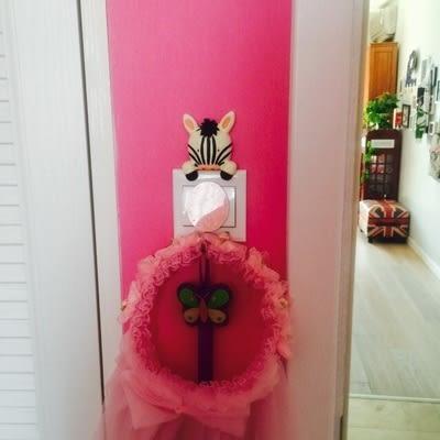 可愛創意開關裝飾 可愛樹脂居家裝飾 (二入)