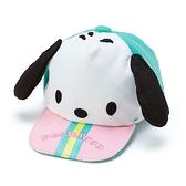 〔小禮堂〕帕恰狗 棒球帽造型帆布化妝包《綠粉》掛飾.收納包.東京奧運系列 4901610-81466