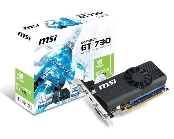 全新 微星N730K-1GD5LP/OC PCI-E 顯示卡 3D圖形加速卡 三年保固