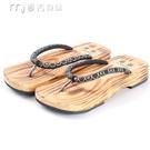 木屐鞋新款日式木屐木板拖鞋木板拖男女平板木頭底情侶人字拖鞋夾腳木屐 快速出貨