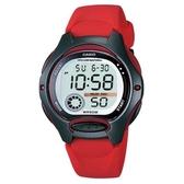 【CASIO】純真時代十年電池電子錶-紅(LW-200-4A)