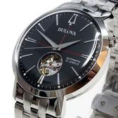 [萬年鐘錶]  BULOVA寶路華  經典 自動機械錶  灰錶面 銀鋼帶 男錶  96A199