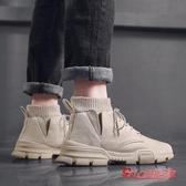 馬丁靴男 男潮鞋男鞋高筒英倫風男士中筒雪地靴冬季工裝靴子棉鞋 4色35-46 快速出貨