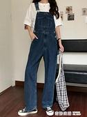 背帶褲女韓版寬鬆可愛日系小個子設計感眾牛仔直筒褲子吊帶 奇妙商鋪