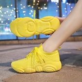 慢跑鞋女 休閒運動鞋 夏秋女飛織學生跑步鞋女百搭透氣襪子鞋女韓版女鞋子【多多鞋包店】ds4718