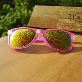 【南紡購物中心】2is Ava 太陽眼鏡│透粉紅霧面框│橘色反光鏡片│UV400