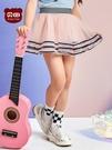 夏新款女童半身裙網紗裙蓬蓬裙嬰兒寶寶短裙子女孩包臀 洛小仙女鞋