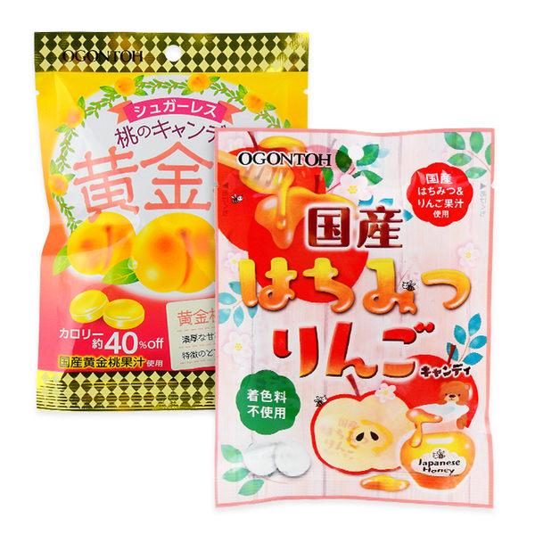 日本 黃金糖 蜂蜜蘋果/黃金桃糖 ◆86小舖 ◆