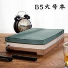 筆記本B5大號軟皮面商務簡約超厚筆記本子加厚文藝精致復古會議記錄本辦公 玩趣3C