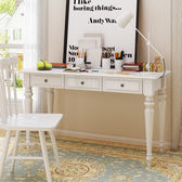 書桌台 美式實木電腦桌書桌小桌子辦公桌兒童學習桌簡約成人寫字台經濟型【美物居家館】