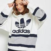 adidas 愛迪達 三葉草 女連帽長袖 運動帽T 大學T 運動服 男連帽T桖/澤米BS4292