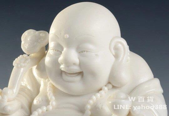 彌勒佛模型 陶瓷佛像擺件 保平安
