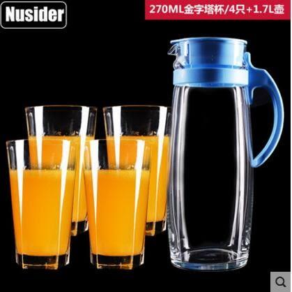 加厚耐熱無鉛玻璃杯套裝 家用茶杯水杯子水俱冷水壺托盤