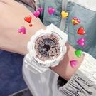 女生手錶 獨角獸電子表初中學生簡約氣質運動防水夜光【快速出貨八折搶購】
