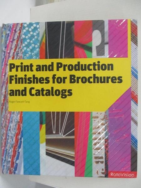 【書寶二手書T1/設計_J8S】Print and production finishes for brochures and catalogs