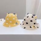 兒童遮陽帽 寶寶漁夫帽春天出游遮陽帽夏天耳朵帽子男女童可愛卡通帽兒童帽潮-Ballet朵朵