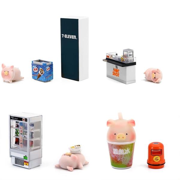 《 Tiny 》7-Eleven X Lulu豬 - 組合1 (一套4款) / JOYBUS玩具百貨