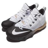 【五折特賣】Nike 籃球鞋 Ambassador IX 大使 9 白 黑 金 LeBron James 男鞋【PUMP306】 852413-110