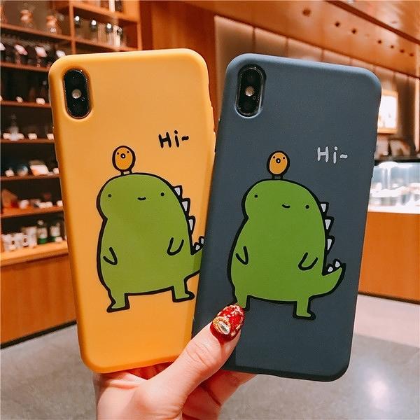 【SZ14】網紅同款綠恐龍全包軟殼 iphone XS MAX手機殼 iphone XR XS手機殼 iphone 8plus手機殼 iphone X手機殼