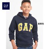 Gap男童 LOGO系列刷毛連帽休閒上衣 869631