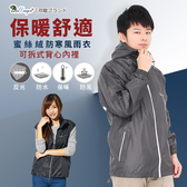 【JoAnne就愛你】買衣送衣。双龍新款蜜絲絨防寒風雨衣/時尚日系立體剪裁外套ER416620A