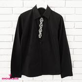 【SHOWCASE】俏麗縫鑽領襟氣質款OL襯衫(白)