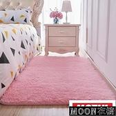 地墊 地毯 絨毛地毯客廳臥室房間女生粉色公主少女可定制長方形滿鋪可愛風地墊 快速出貨