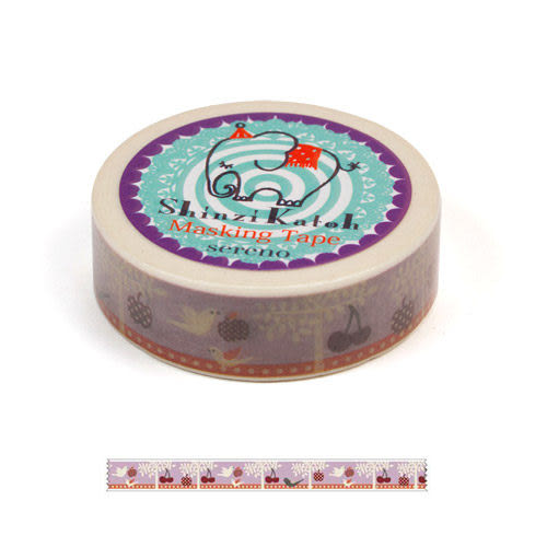 ★funbox生活用品★《Shinzi Katoh 加藤真治》紙膠帶15mm(甜蜜果園) ZI02797