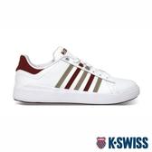 【K-SWISS】Pershing Court Light輕量時尚運動鞋-男-白/紅/卡其06095-128