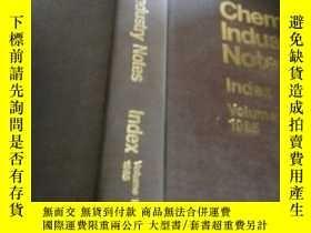 二手書博民逛書店chemical罕見industry notes index v