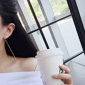 【TT】情享韓版時尚氣質長款兩用耳環人工水鑽細鏈條簡約甜美配飾品女