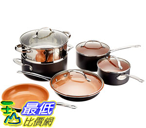 [8美國直購] 不沾鍋 廚具套裝 GOTHAM STEEL 10-Piece Kitchen Nonstick Frying Pan and Cookware Set