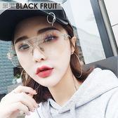 墨鏡潮人透明眼鏡2017新款大框眼睛女網紅款多邊形個性太陽鏡
