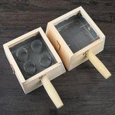 木制四柱艾灸盒實木艾灸盒4四孔艾灸器具儀器溫灸艾條盒婦科宮寒     智能生活館