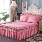限定款床罩組歐式棉質床罩床裙式全棉床群單...