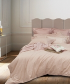【Sanderson】Wave (Pink) 緹花加大四件式床包組